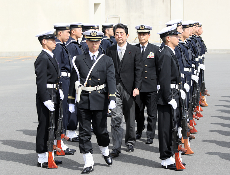 Photograph of the salute and the guard of honor ceremony (1)
