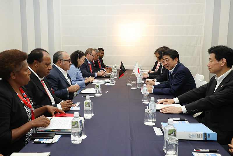 Photograph of the Japan-Papua New Guinea Summit Meeting