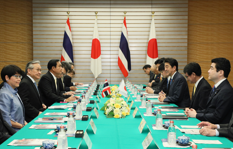 Photograph of the Japan- Thailand Summit Meeting