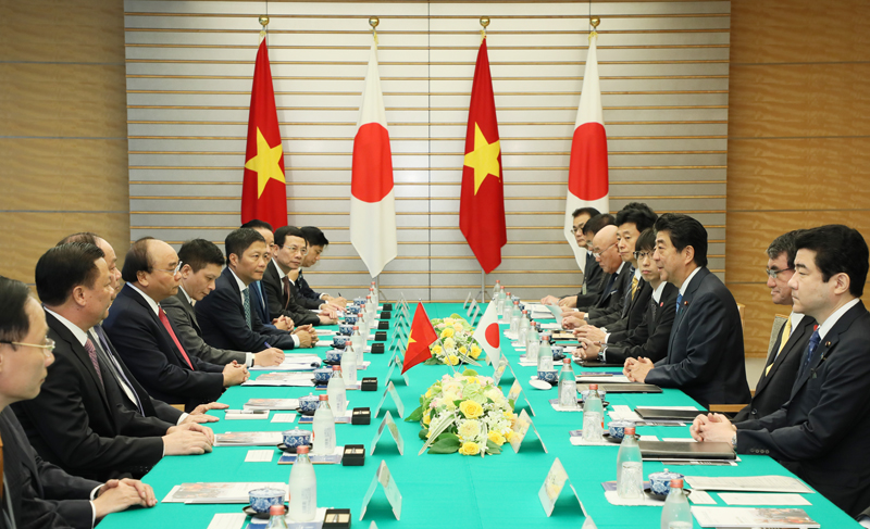Photograph of the Japan-Viet Nam Summit Meeting