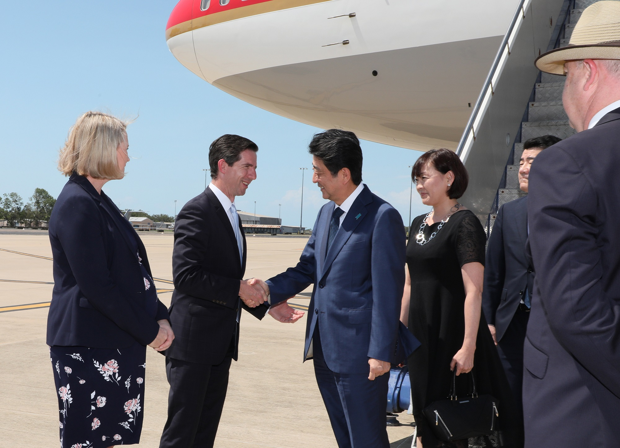 Photograph of the Prime Minister visiting Australia