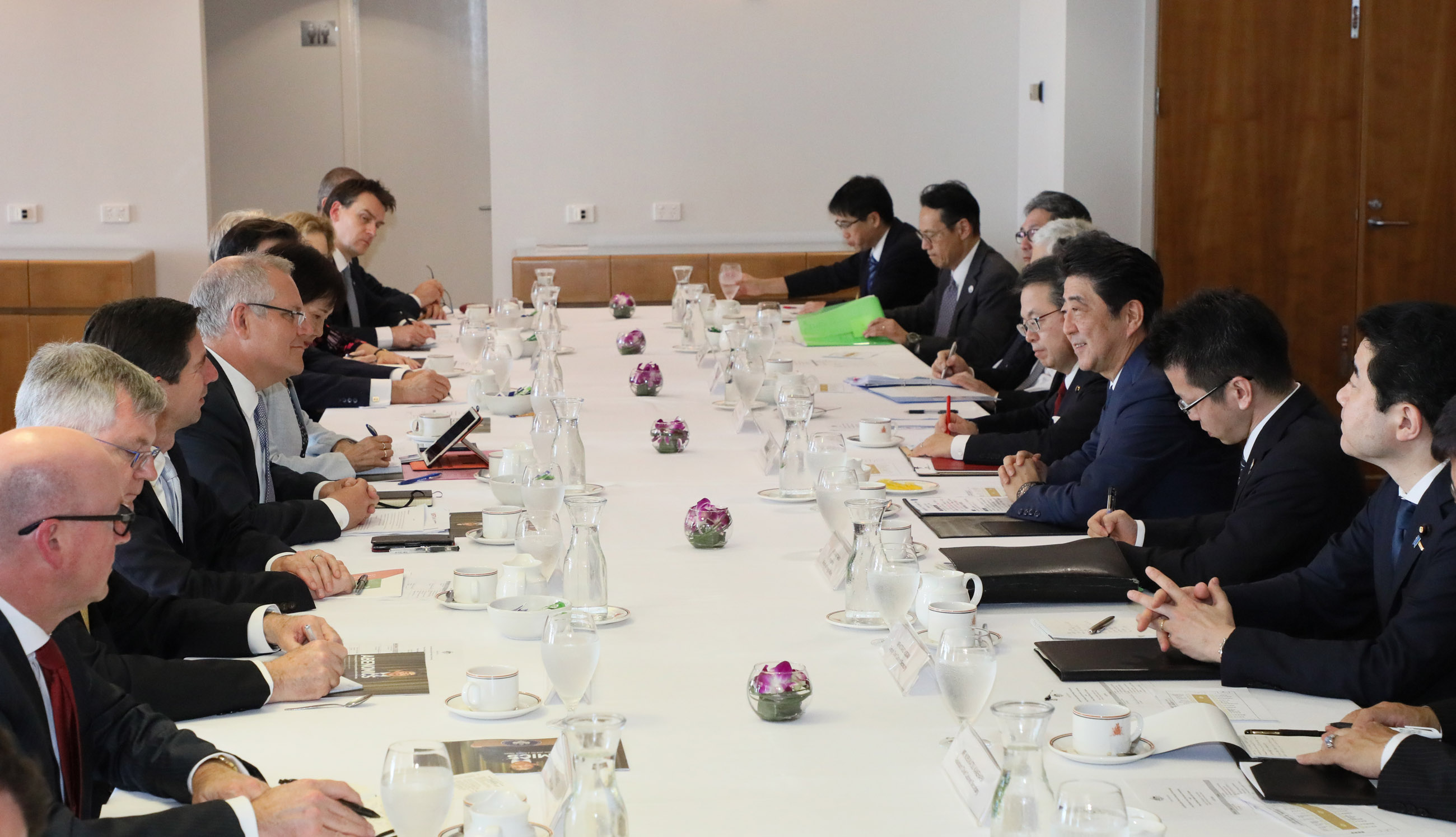Photograph of the Japan-Australia Summit Meeting