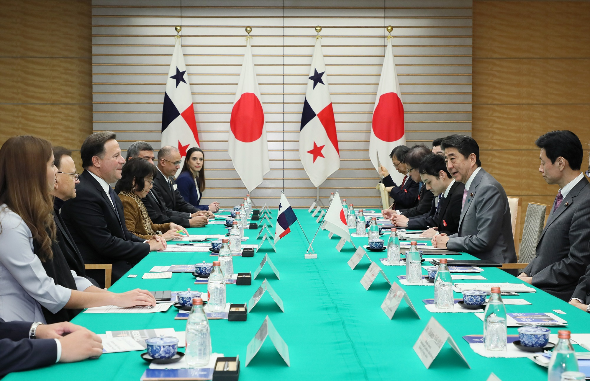 Photograph of the Japan-Panama Summit Meeting