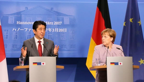 Photograph of the Japan-Germany joint press conference (1)