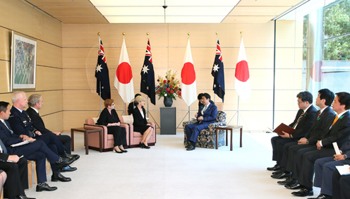 Photograph of the Prime Minister receiving the courtesy call (3)