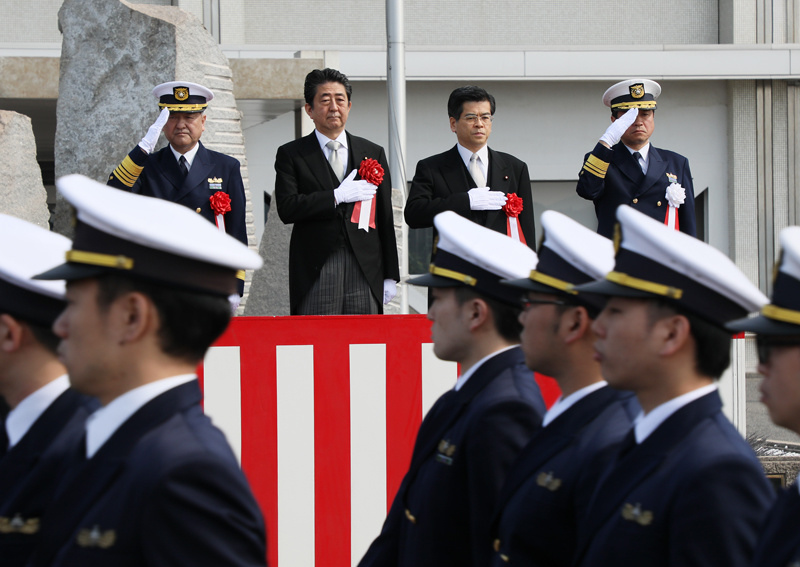 Photograph of the Prime Minister observing the parade (1)