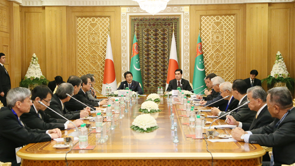 Photograph of the meeting with the private-sector mission