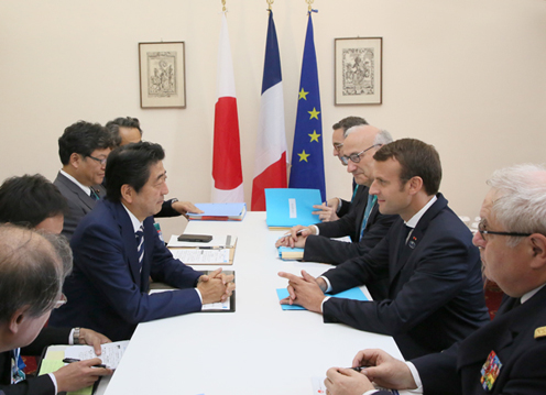 Photograph of the Japan-France Summit Meeting