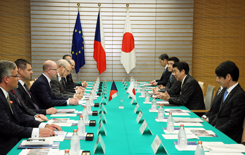 Photograph of the Japan-Czech Republic Summit Meeting