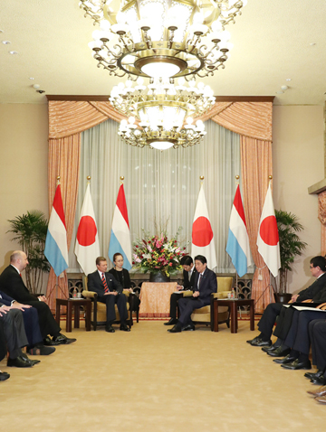 Photograph of the Prime Minister meeting with the Grand Duke of Luxembourg (3)