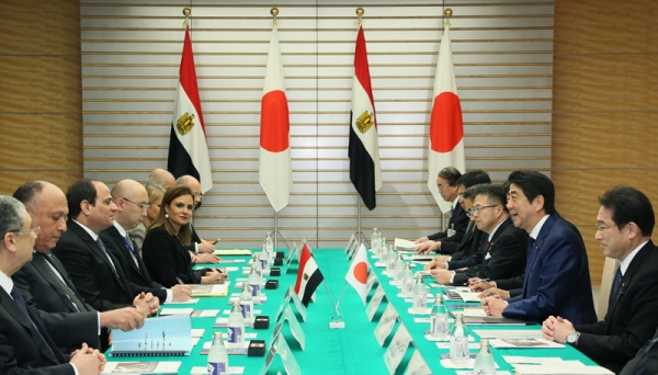 Photograph of the Japan-Egypt Summit Meeting