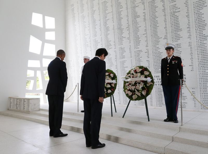 Photograph of the Prime Minister at the USS Arizona Memorial (2)