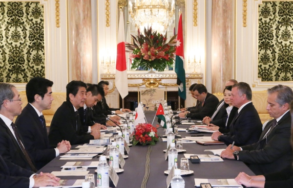 Photograph of the Japan-Jordan Summit Meeting