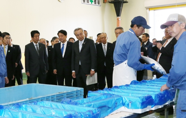 Photograph of the Prime Minister visiting a business involved with the reconstruction of tourism (1)