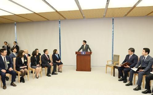Photograph of the Prime Minister delivering an address (3)